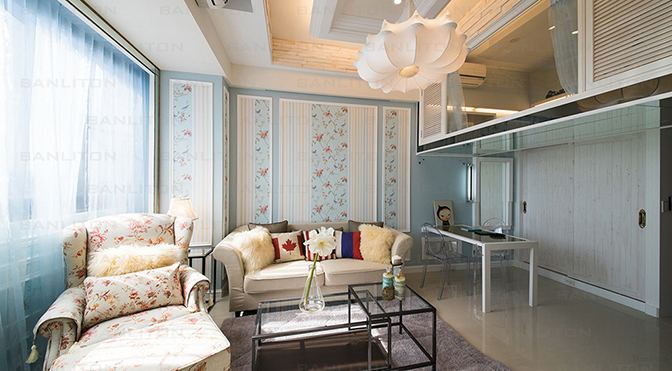 [挑高夾層設計] 12坪套房的春天,小坪數設計的裝潢夢