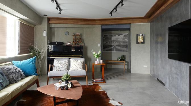 [小坪數設計] 灰斜美!翻轉狹長型老屋的新價值