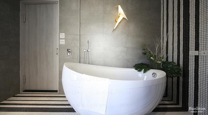 [挑高夾層設計] 夾層不低調02招 點綴浴室怎能少了馬賽克拼磚!